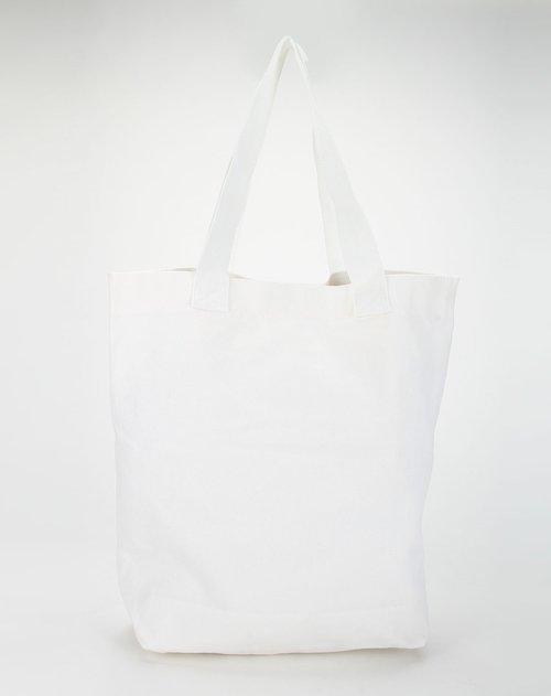 美特斯邦威&ampm混合女装专场动物印图本白色购物袋