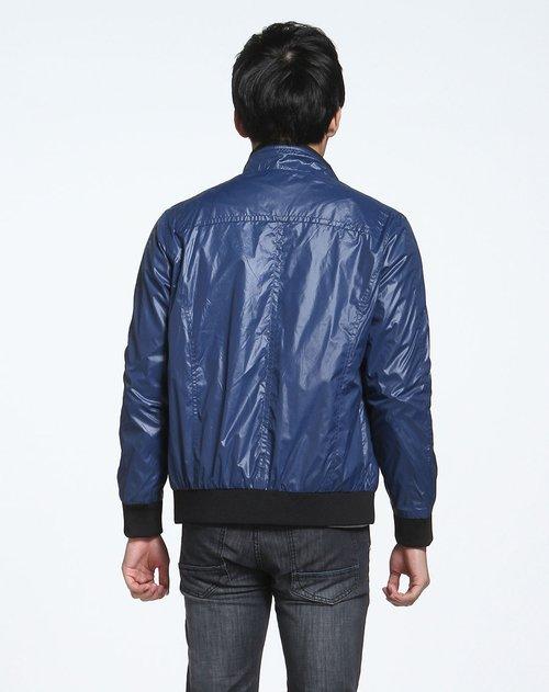 森马男装专场宝蓝色时尚长袖休闲外套图片