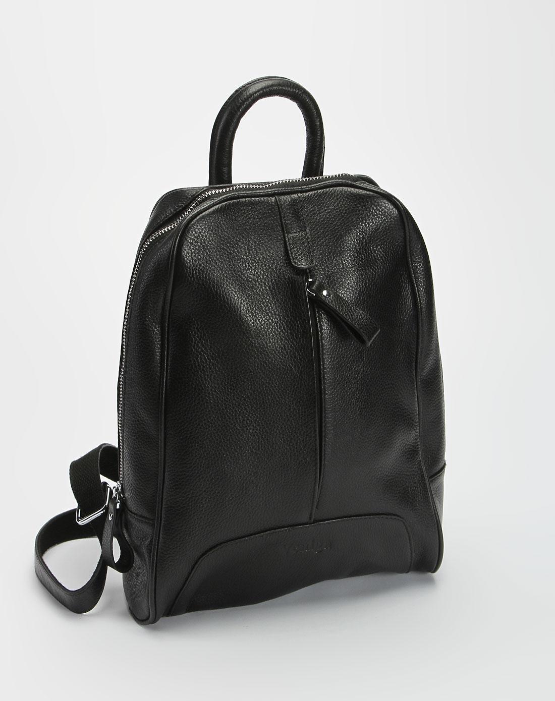 品牌-8----夜场黑色时尚牛皮双肩包2400100000165