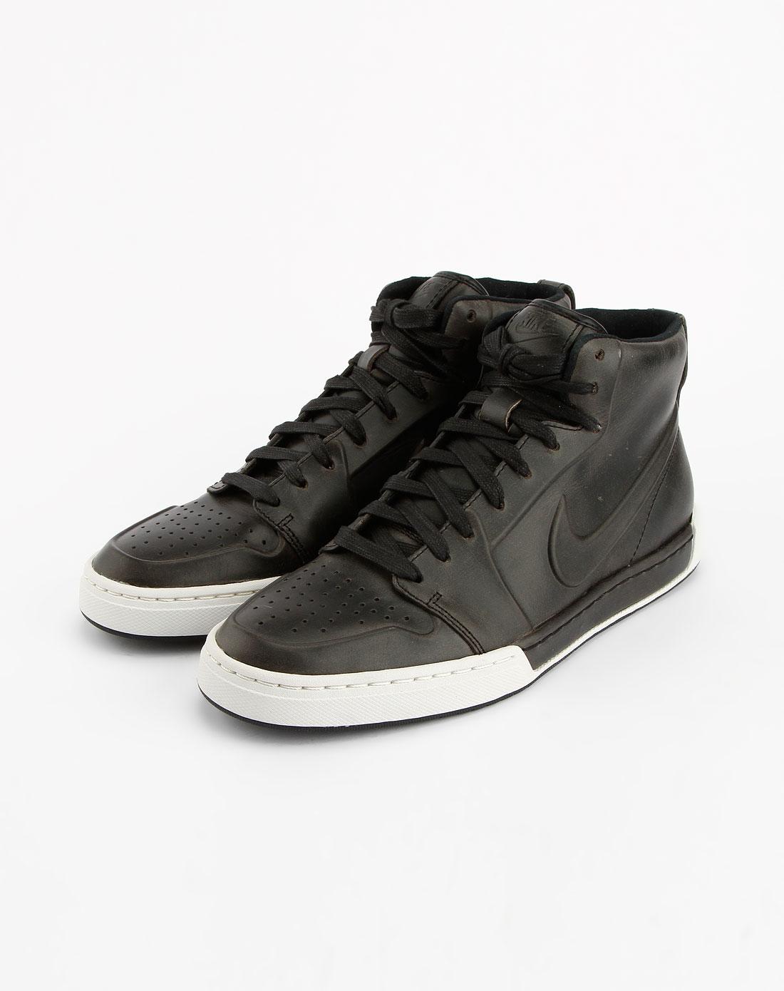 耐克nike黑/白色高帮透气运动鞋395757-005
