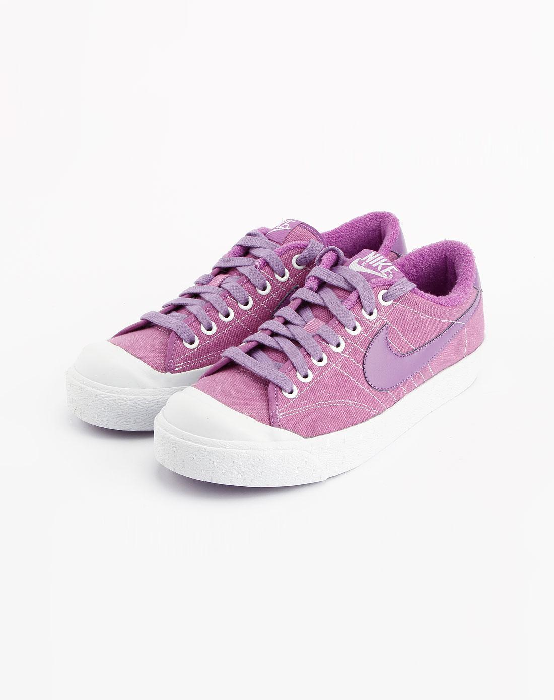 耐克nike浅紫/白色时尚休闲鞋417721-500
