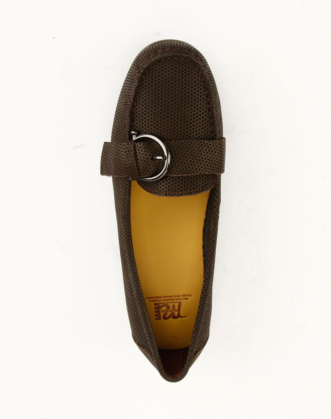马内尔martniel女款棕色磨砂牛皮女鞋