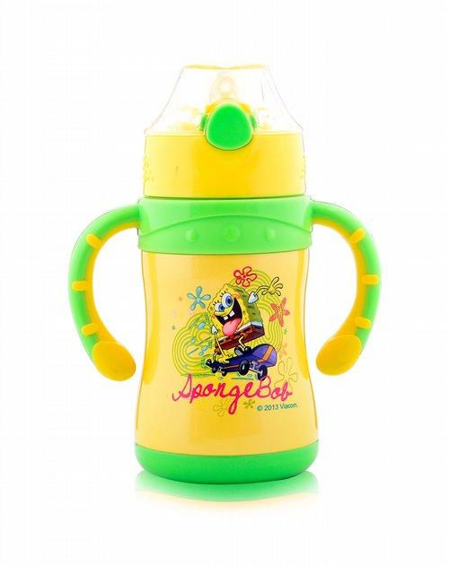 海绵宝宝儿童用品专场220ml乐趣儿童吸管杯黄色