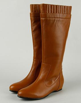 棕色高筒靴搭配; mooffy;