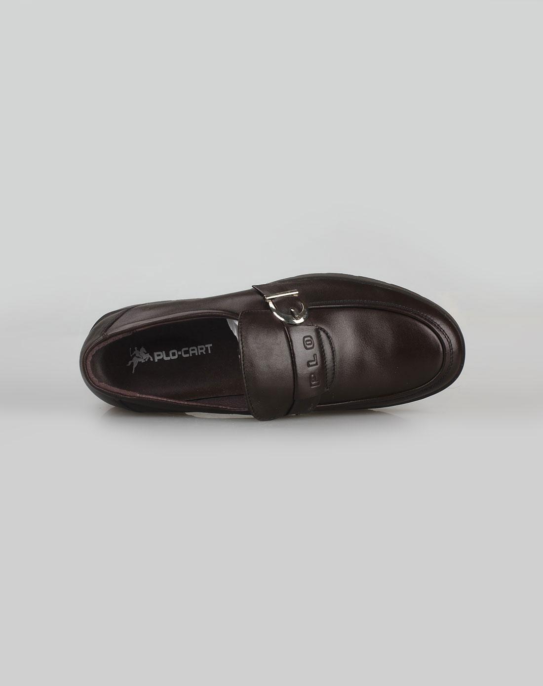 男款棕色经典时尚皮鞋