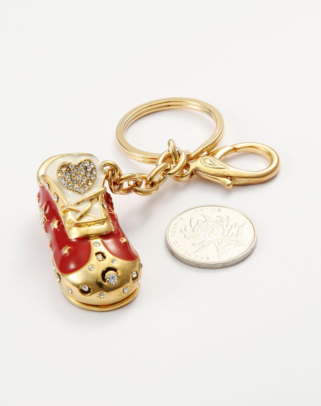 威妮华viennois可爱红色球鞋钥匙扣v123068l-003