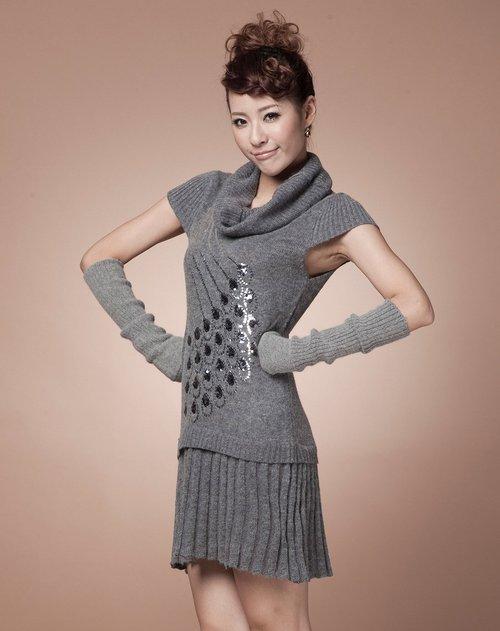 梵庭诗phancy孔雀之舞亮片针织裙