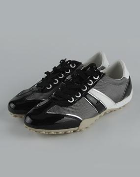 健乐士geox女款黑/银色绑带休闲鞋