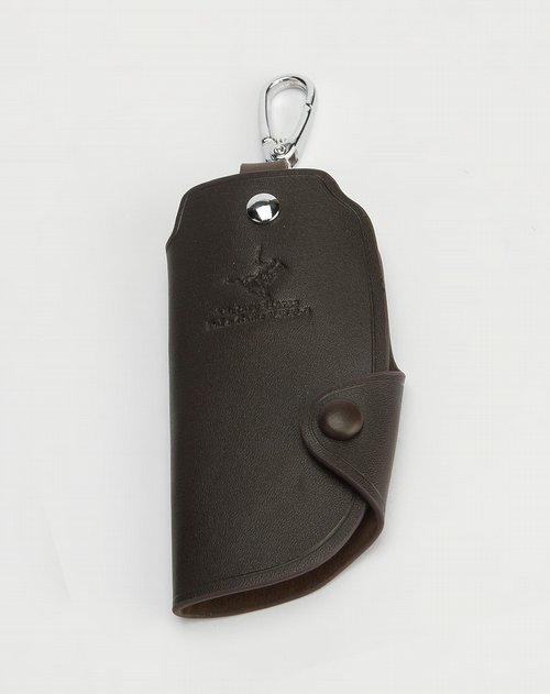 维多利保罗男士专场啡色印logo钥匙包