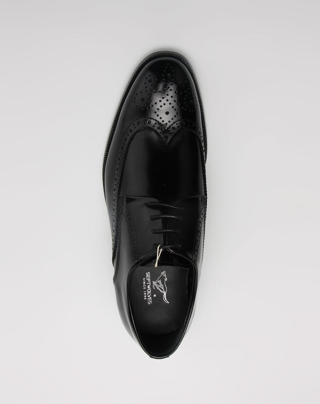 七匹狼septwolves男鞋黑色典雅时尚皮鞋