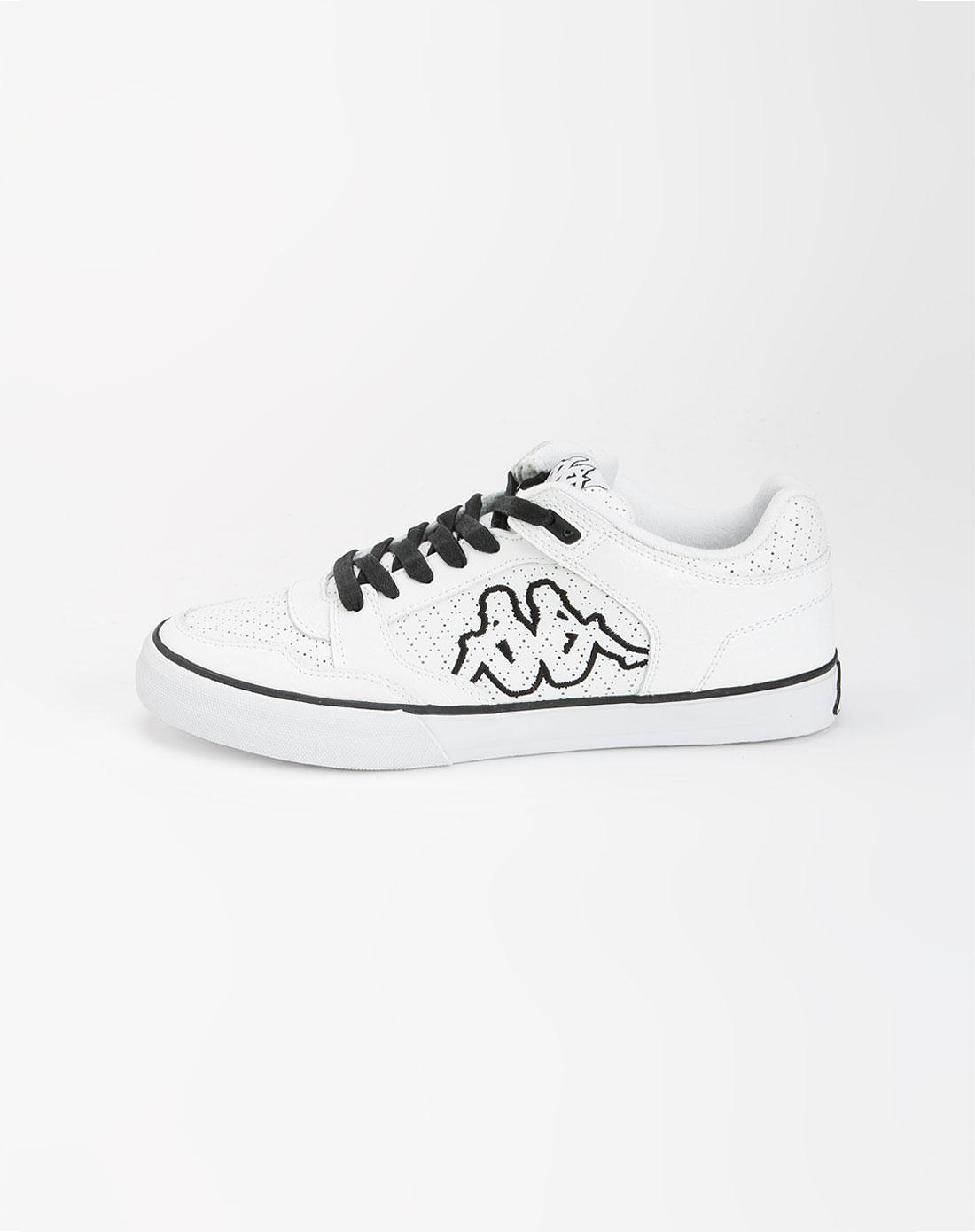 卡帕kappa白色系带休闲鞋k5102cc281-002