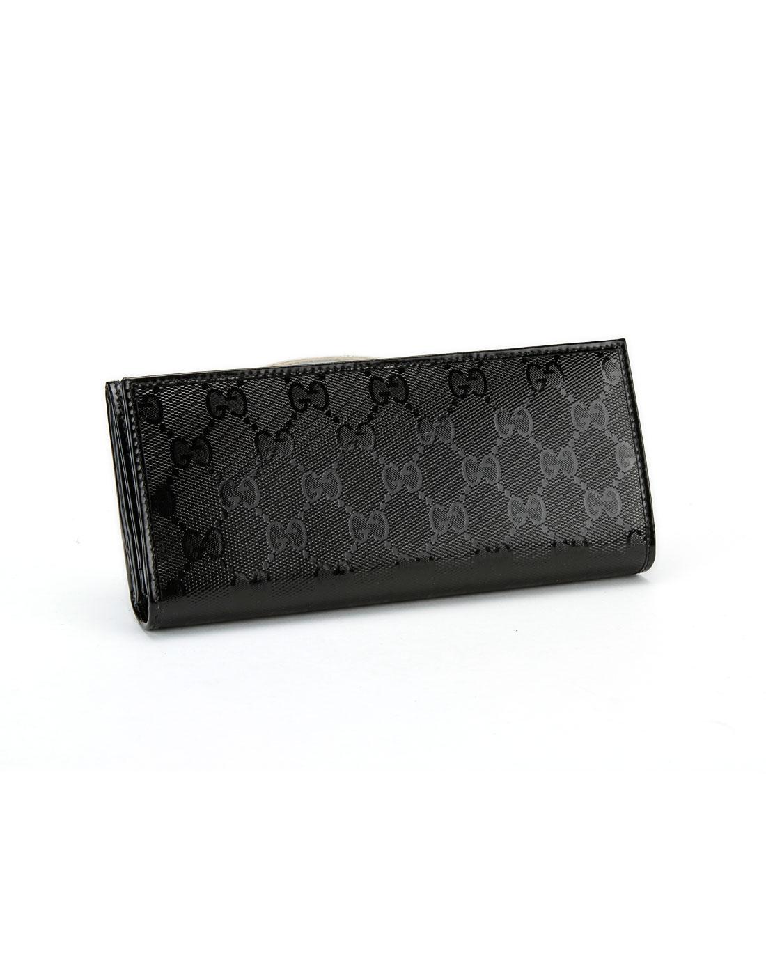 gucci配件专场女款黑色竖式钱包