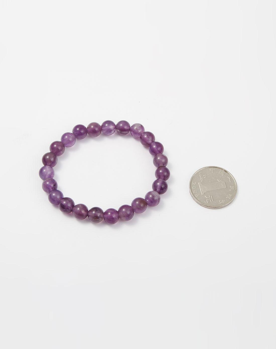 熙帝紫色紫水晶手链