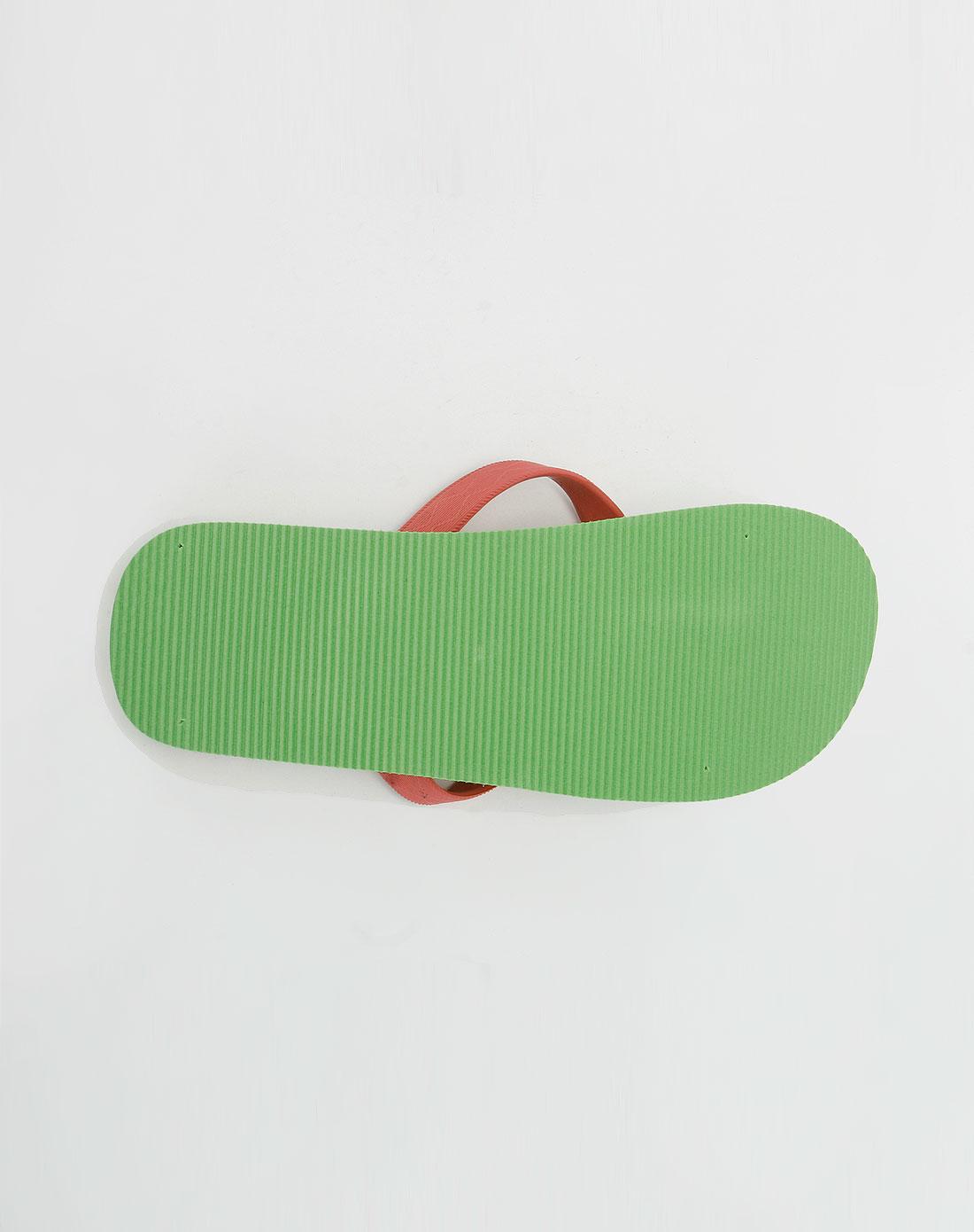 fox-女款浅绿色沙滩拖鞋