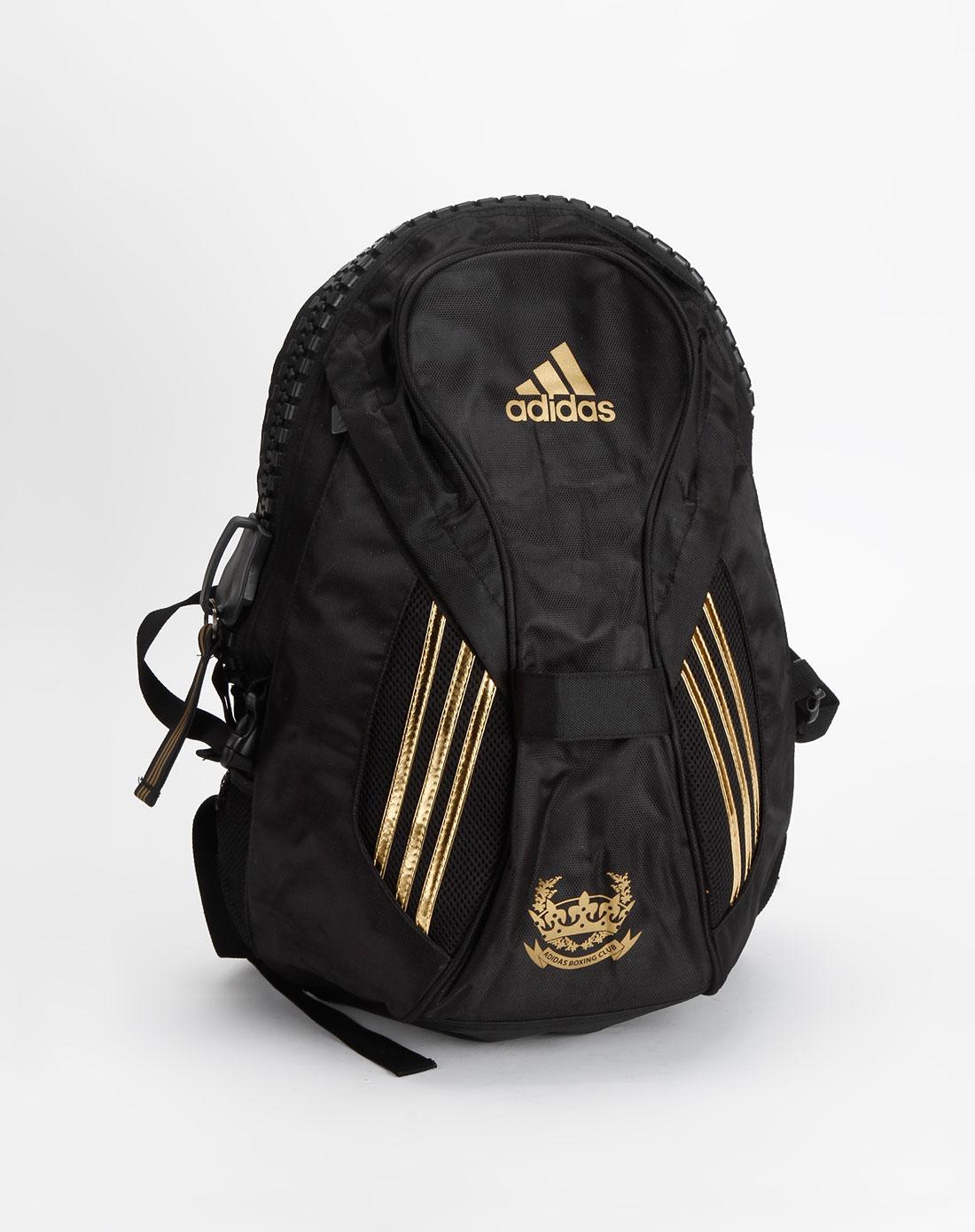 阿迪达斯adidas中性黑色双肩运动背包adiacc091