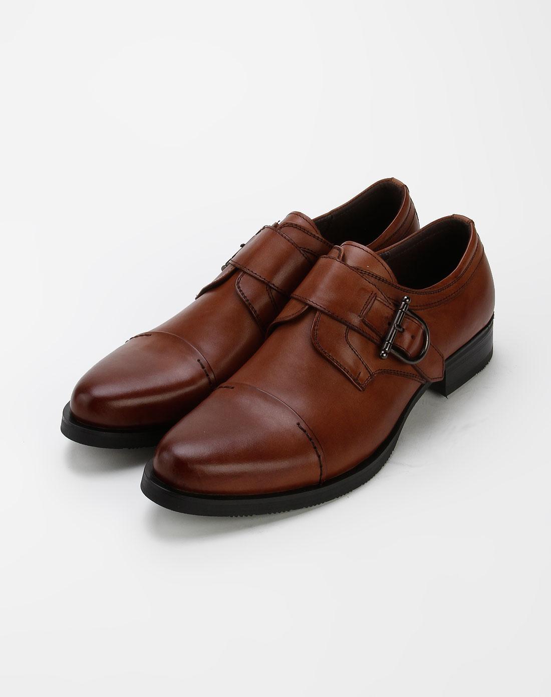 法索里fasoli男款式棕色牛皮时尚皮鞋