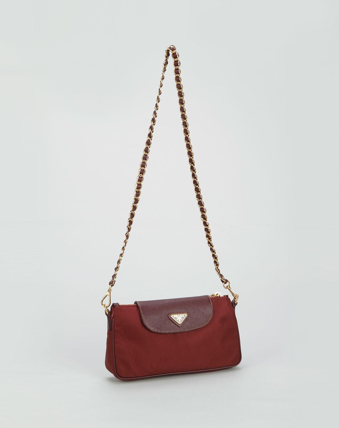 prada女款深紫红色时尚优雅单肩包bt0779amaranto