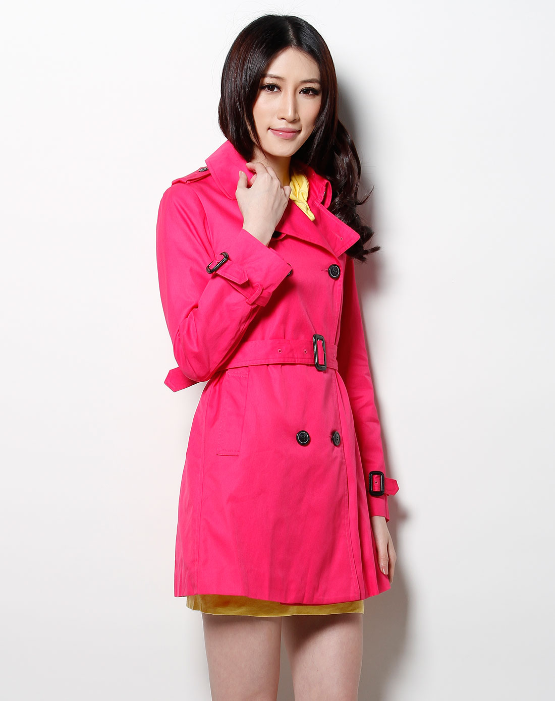 卡莎布兰卡玫红色长袖外套