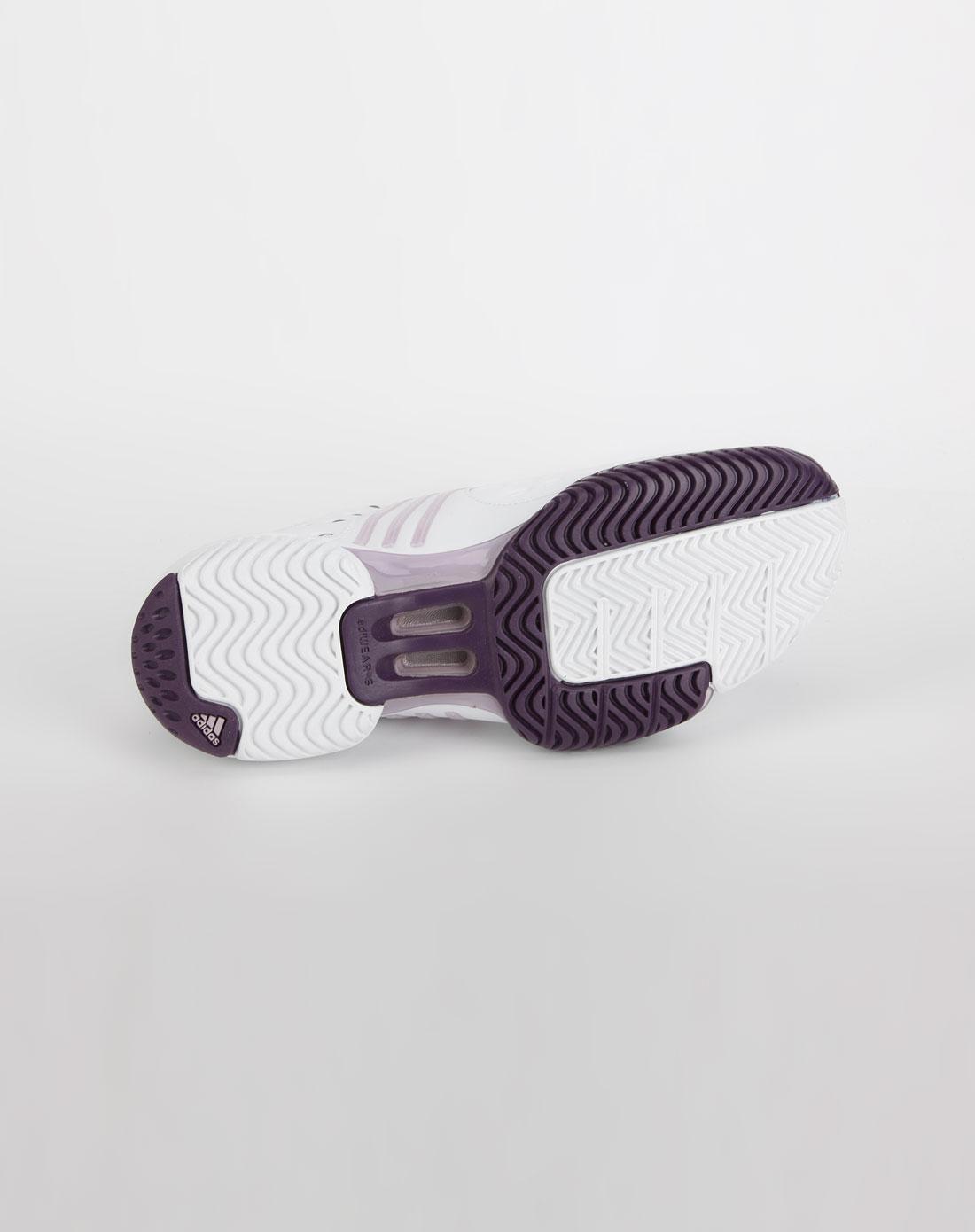 阿迪达斯adidas女款白/浅紫粉色网球鞋