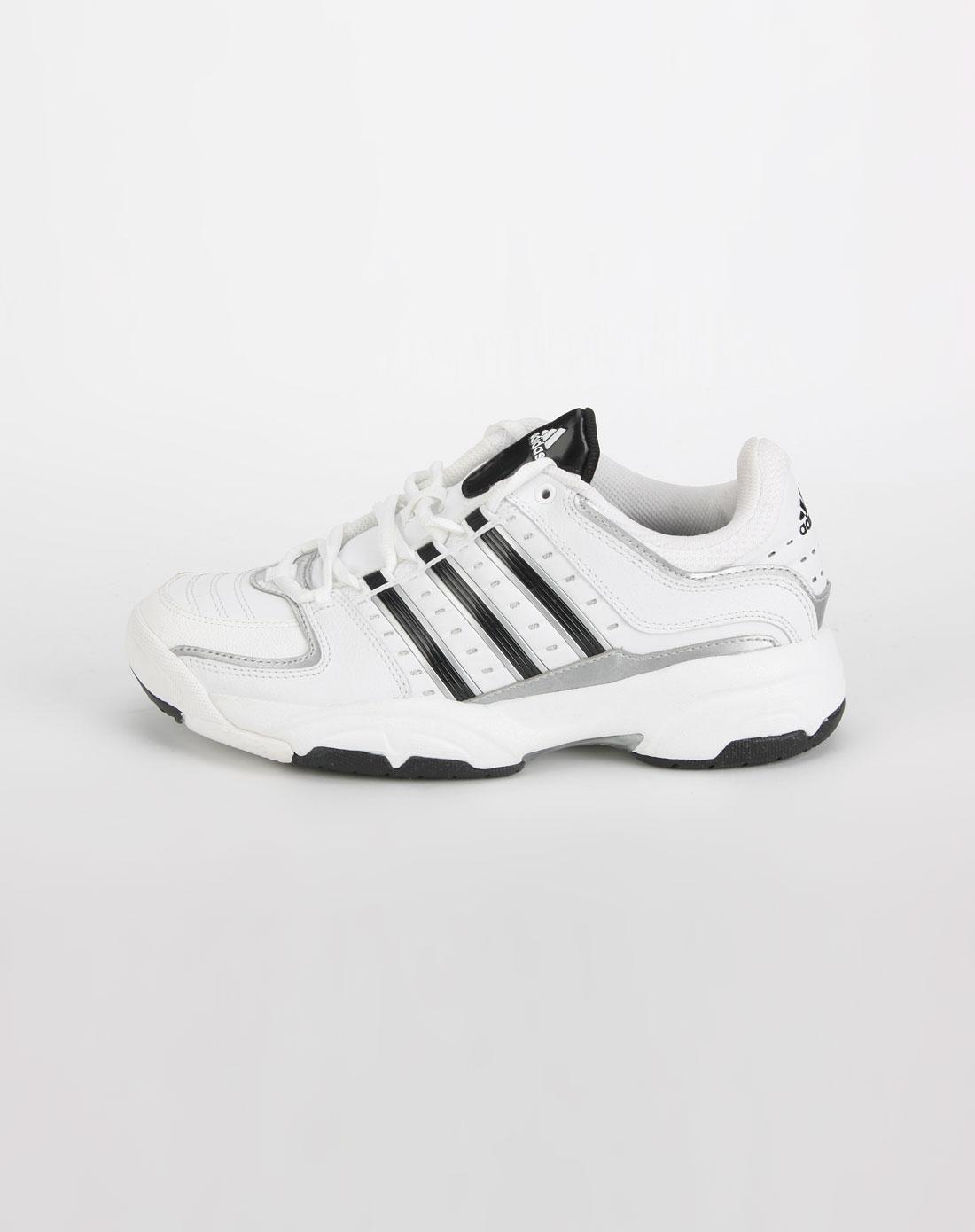 阿迪达斯adidas-女款亮白色网球鞋