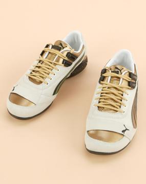 中性白色powerdriftmetallic休闲鞋