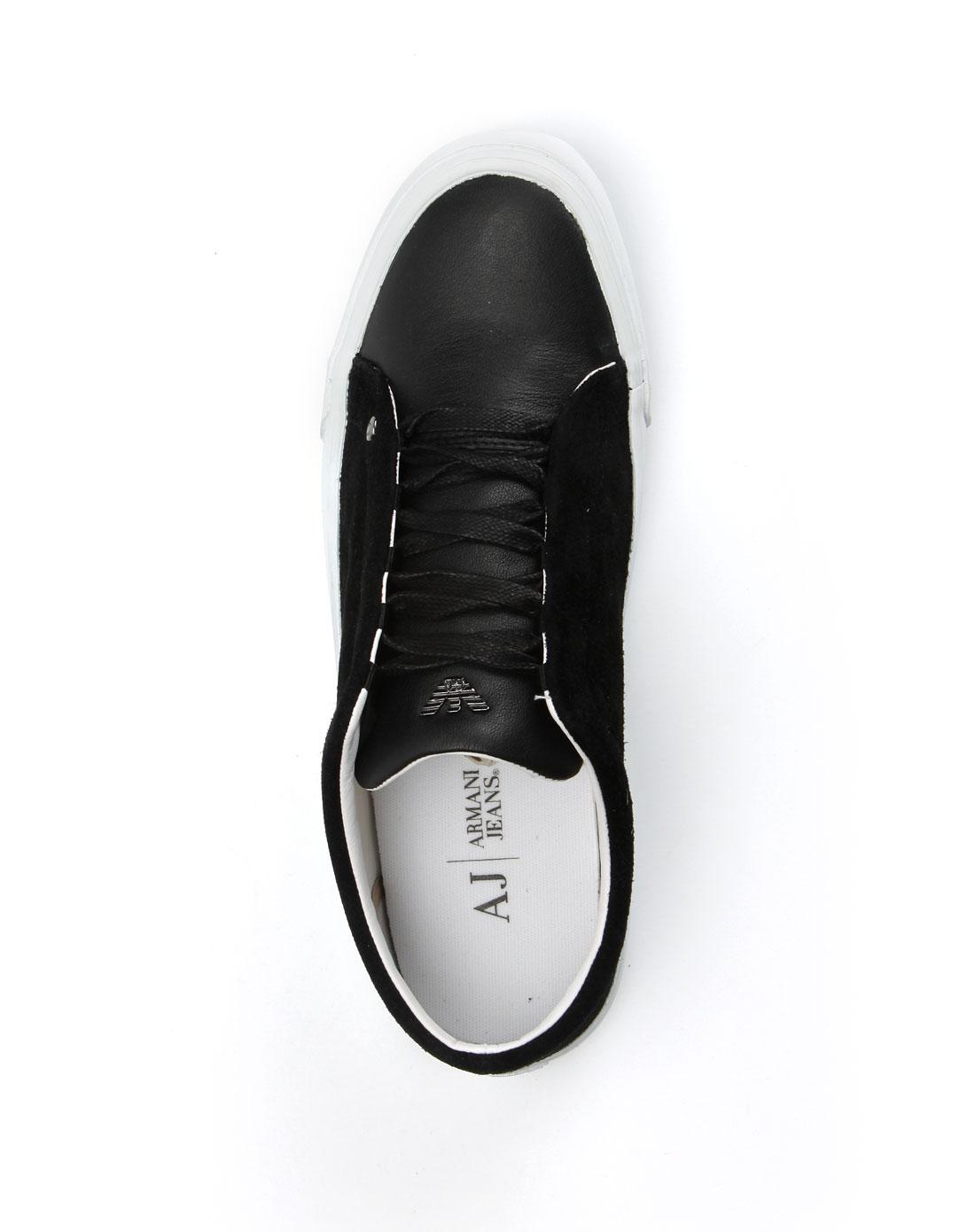 armani鞋子专场aj 女款黑色绒面休闲鞋