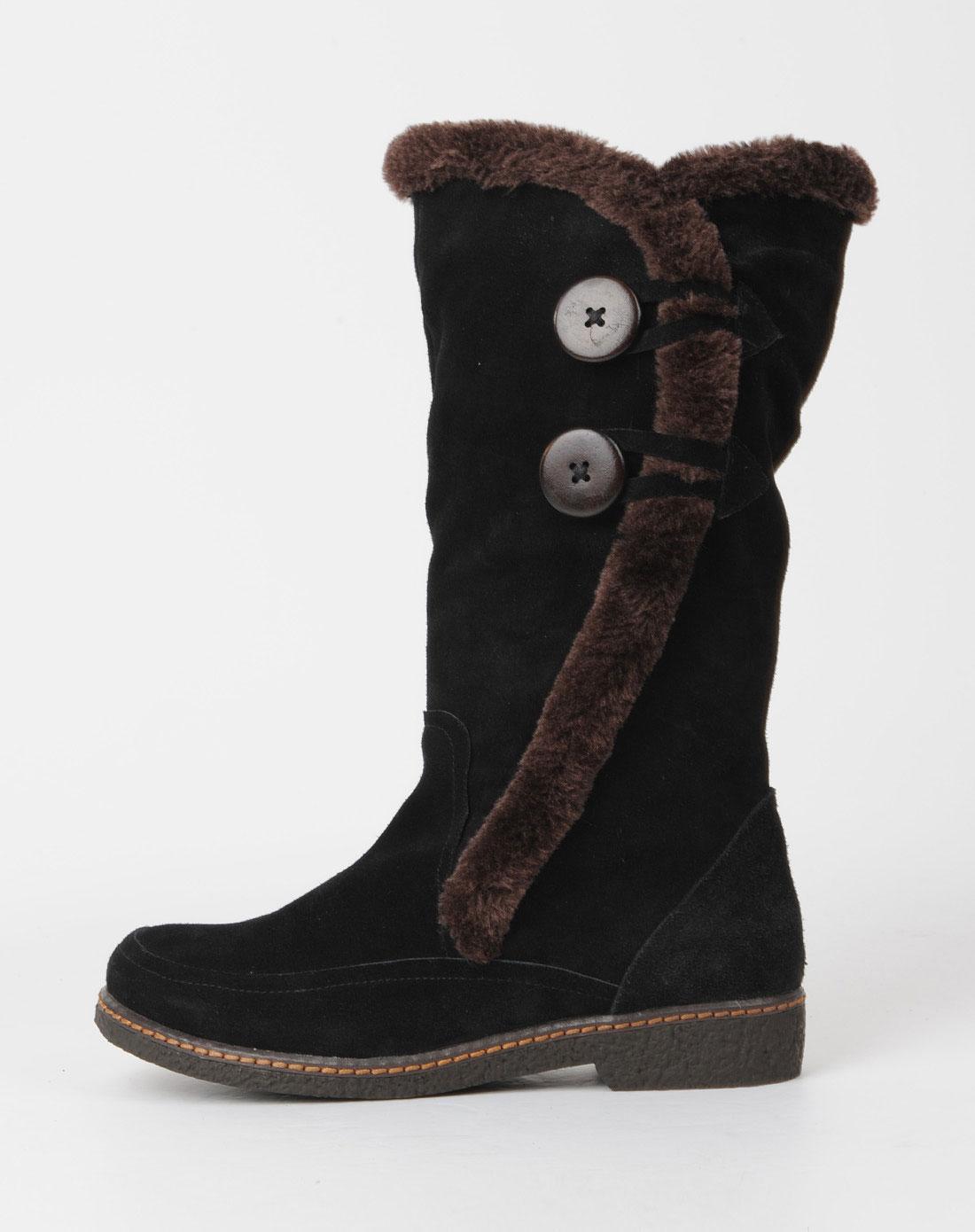 佐丹奴giordano女鞋女款黑色休闲鞋