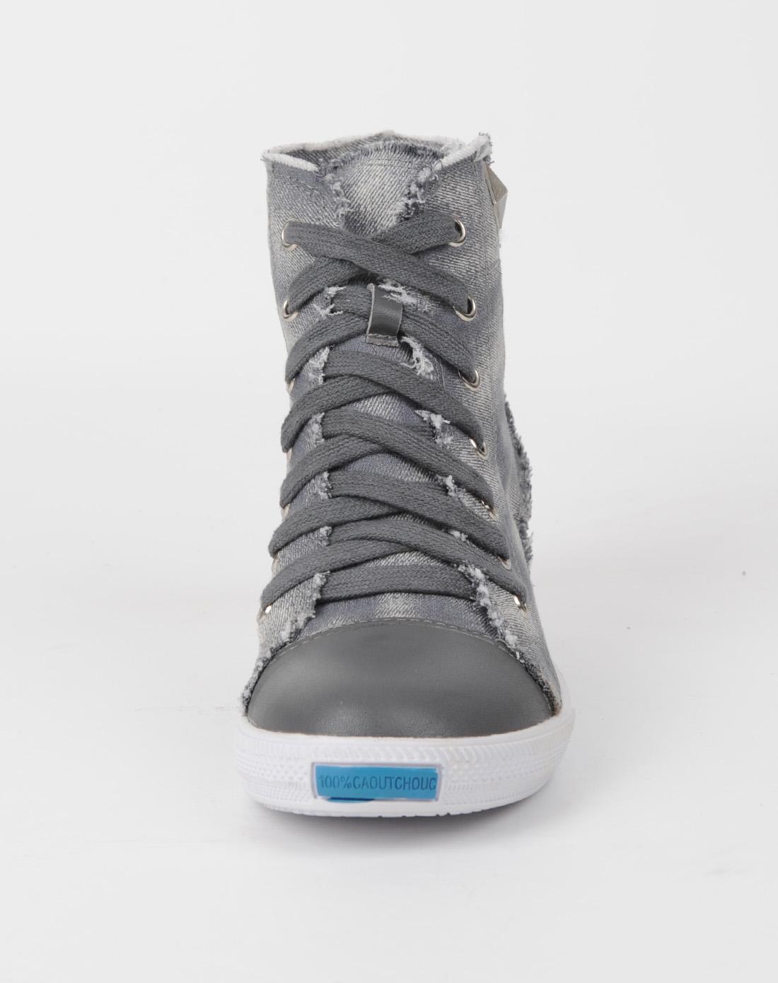 佐丹奴giordano女鞋女款灰色休闲鞋
