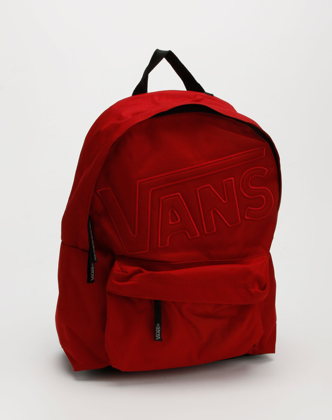 中性红色休闲背包