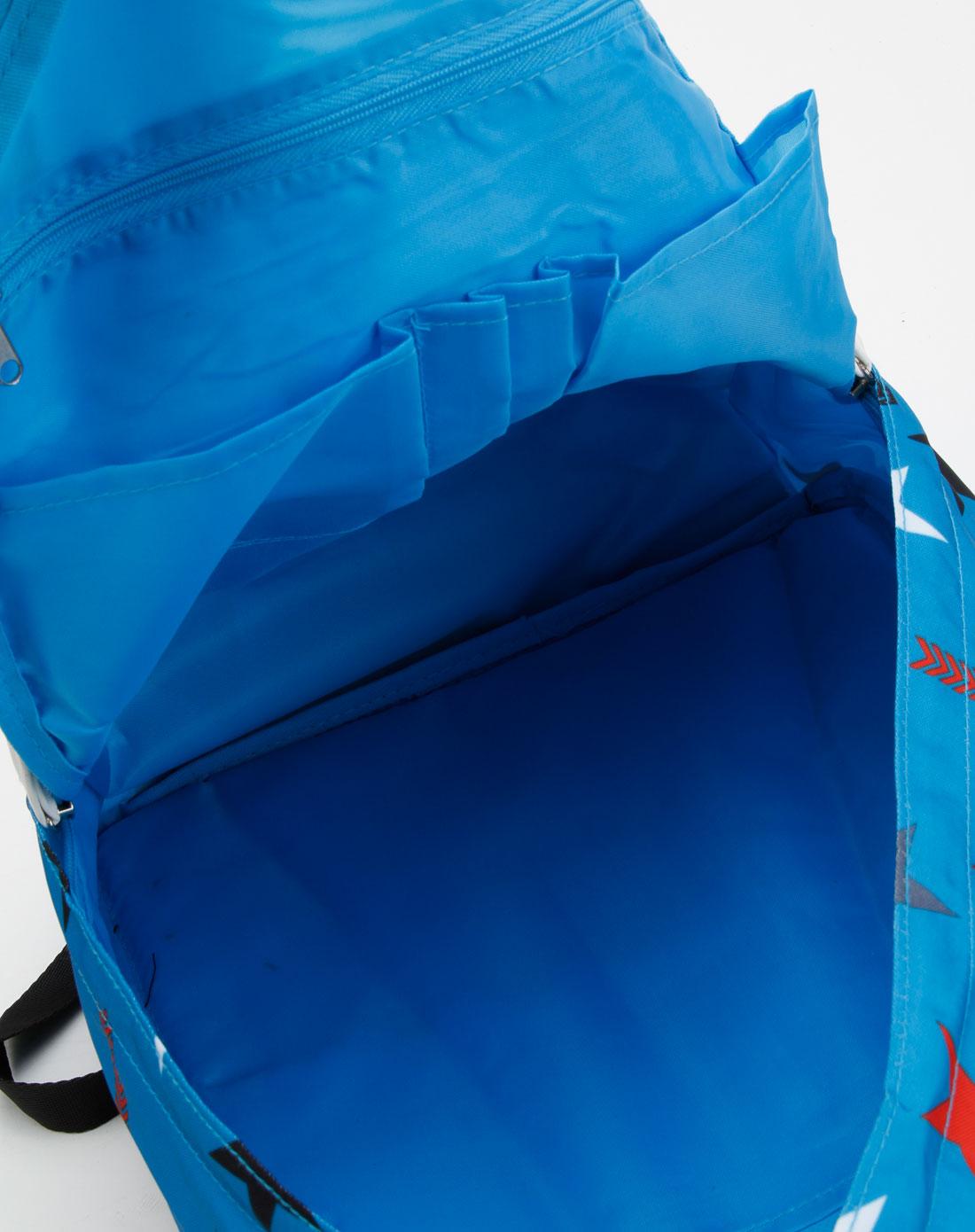 美特斯邦威-女装专场蓝色星星印花休闲背包图片