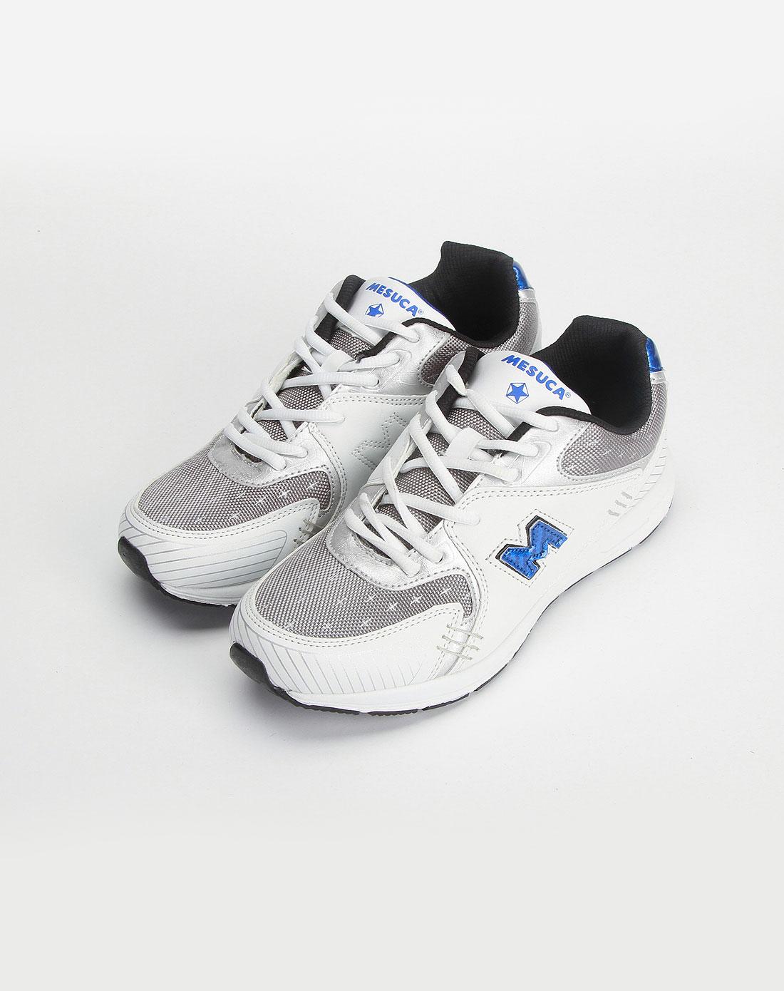 男款蓝色/白色运动鞋