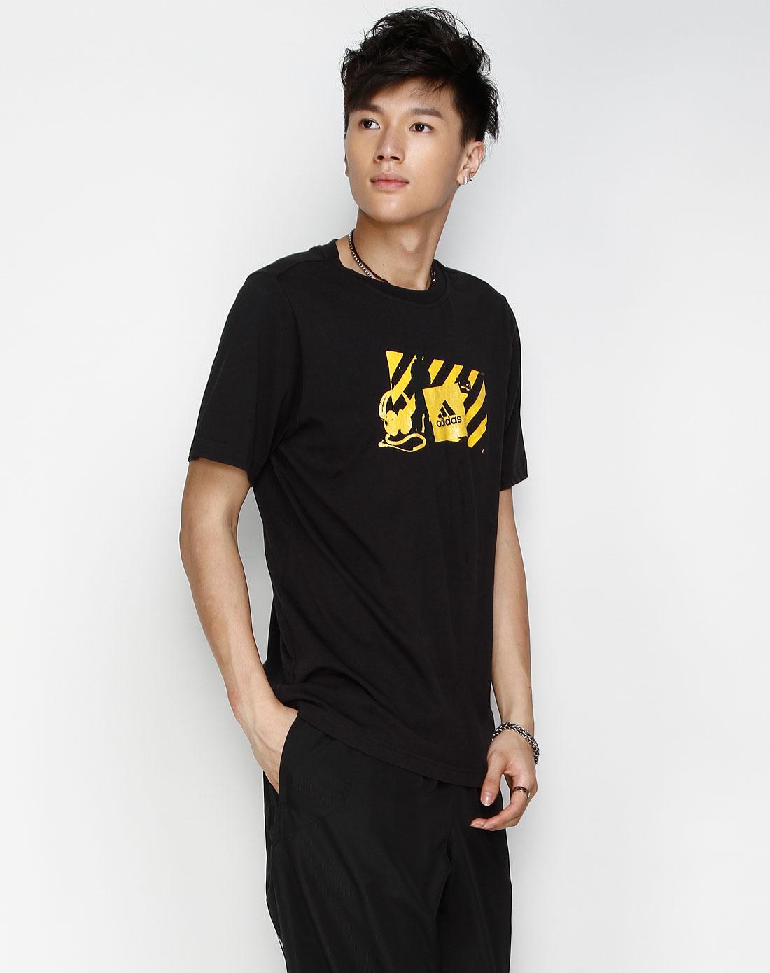 sp 男款 黑/黄色休闲短袖t恤