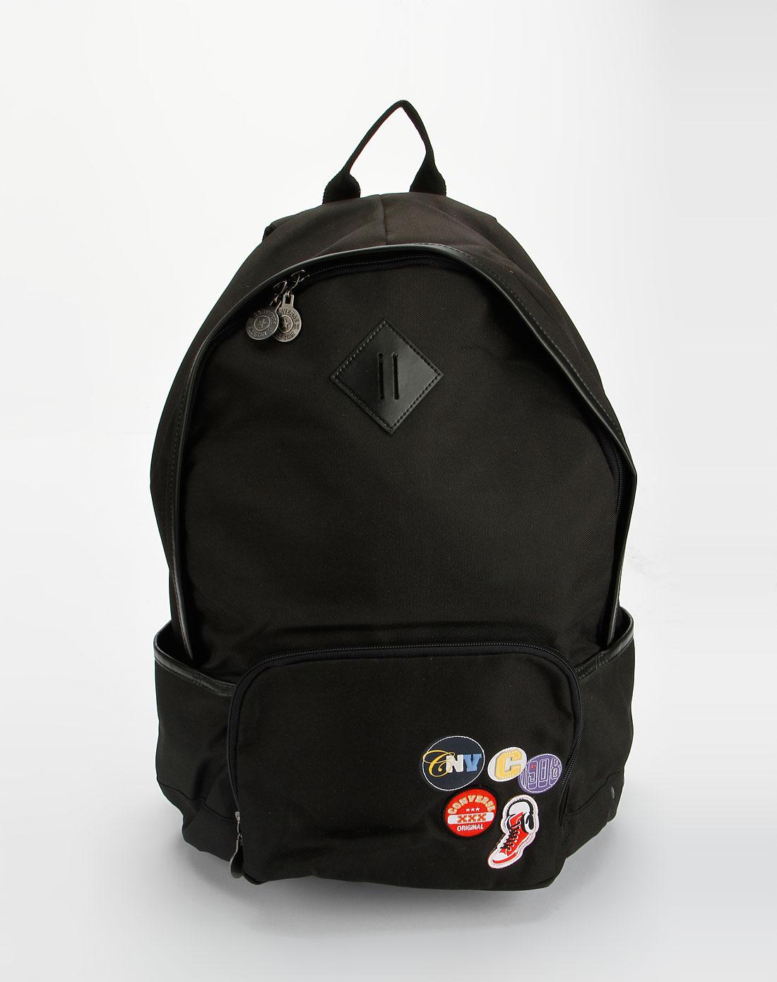 中性黑色时尚双肩背包