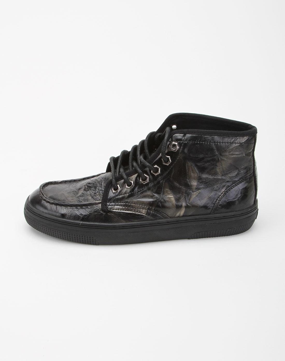 homme黑色个性休闲鞋