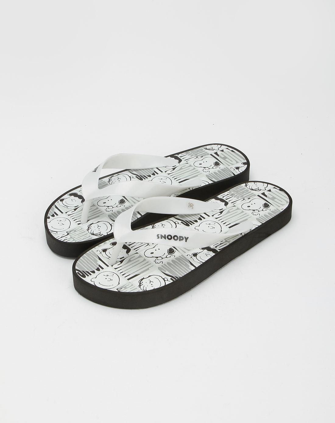 鞋女款白色拖鞋
