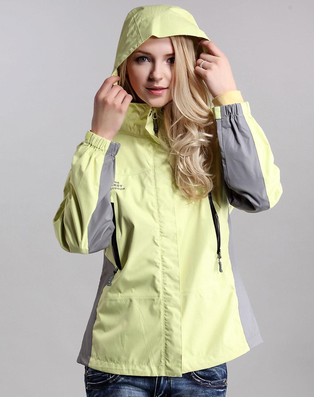 女式冲锋衣单衣_女款翠绿色单冲锋衣