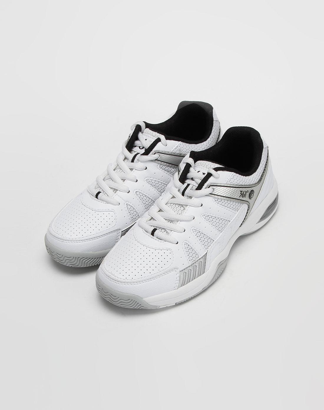 女款白/黑色羽毛球鞋_361°官网特价1.7-3