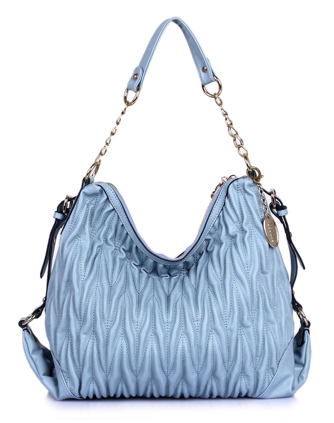 丽天妮leonie女款蓝色手袋