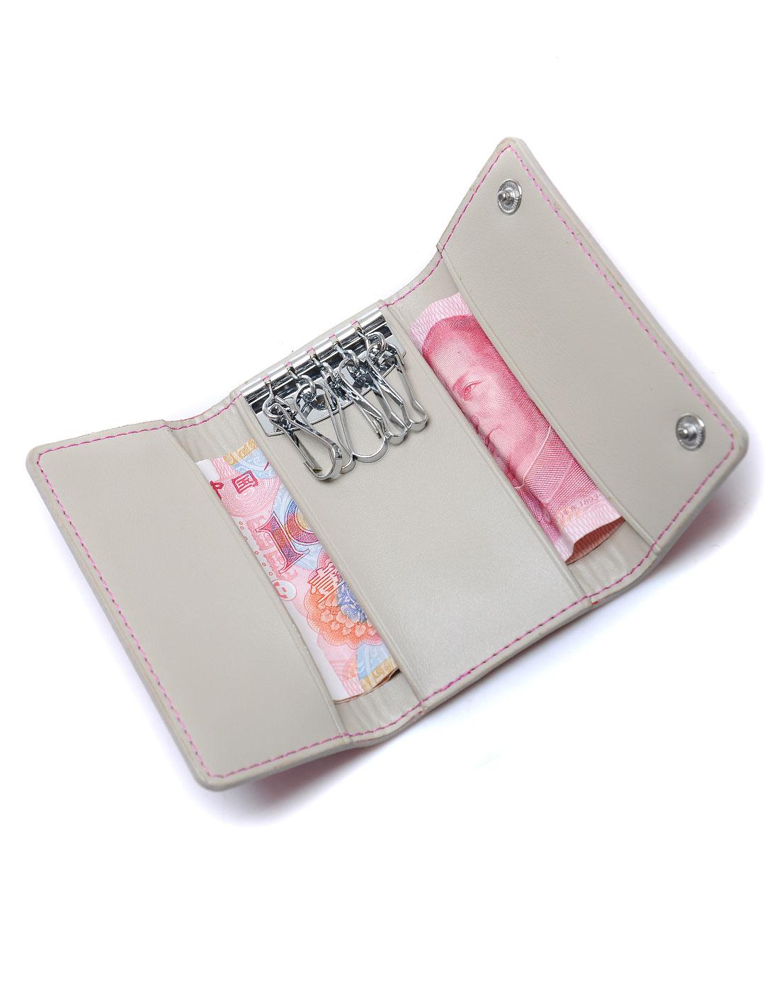 boyatu女款粉色钥匙包