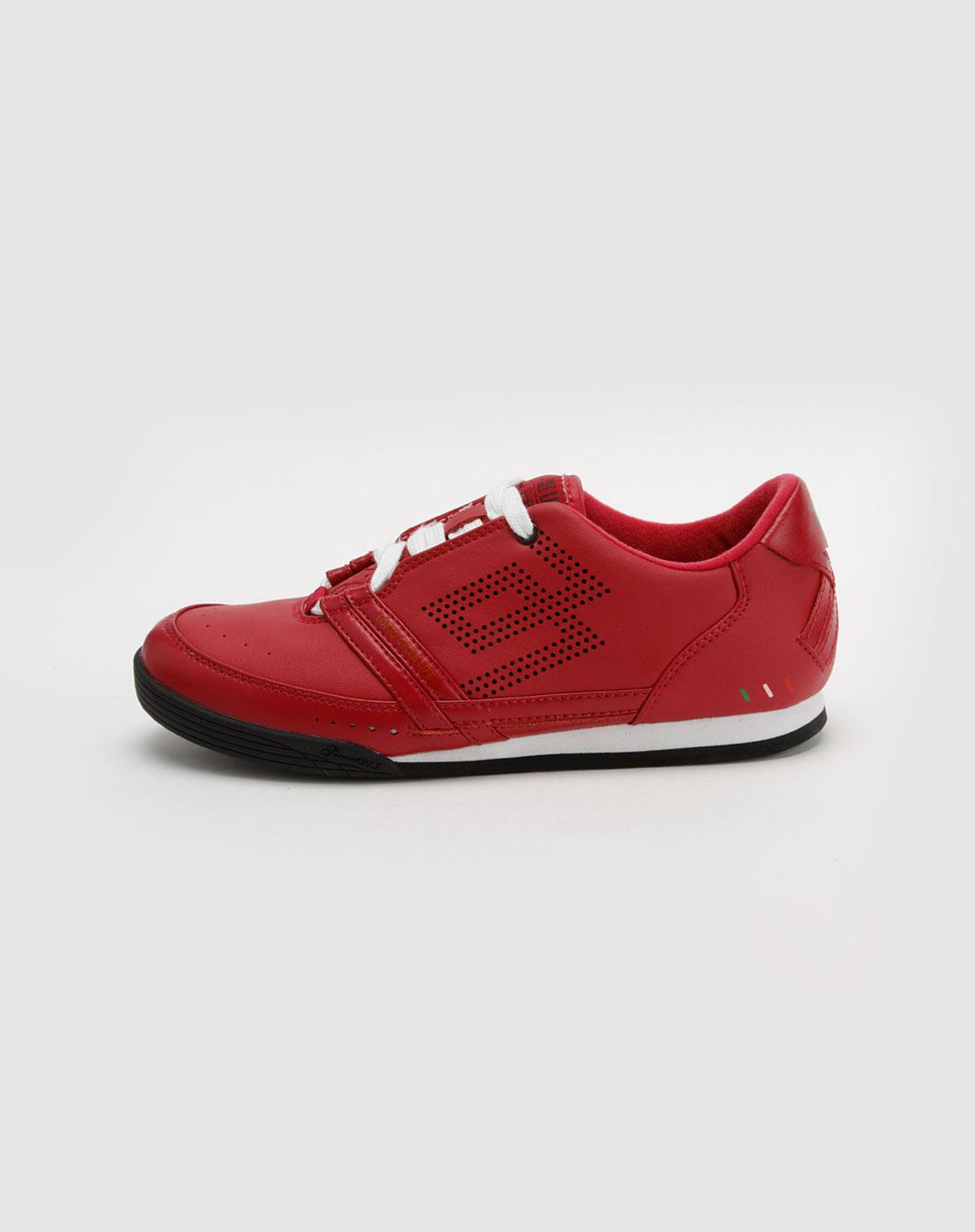 乐途lotto女款红色透气运动鞋