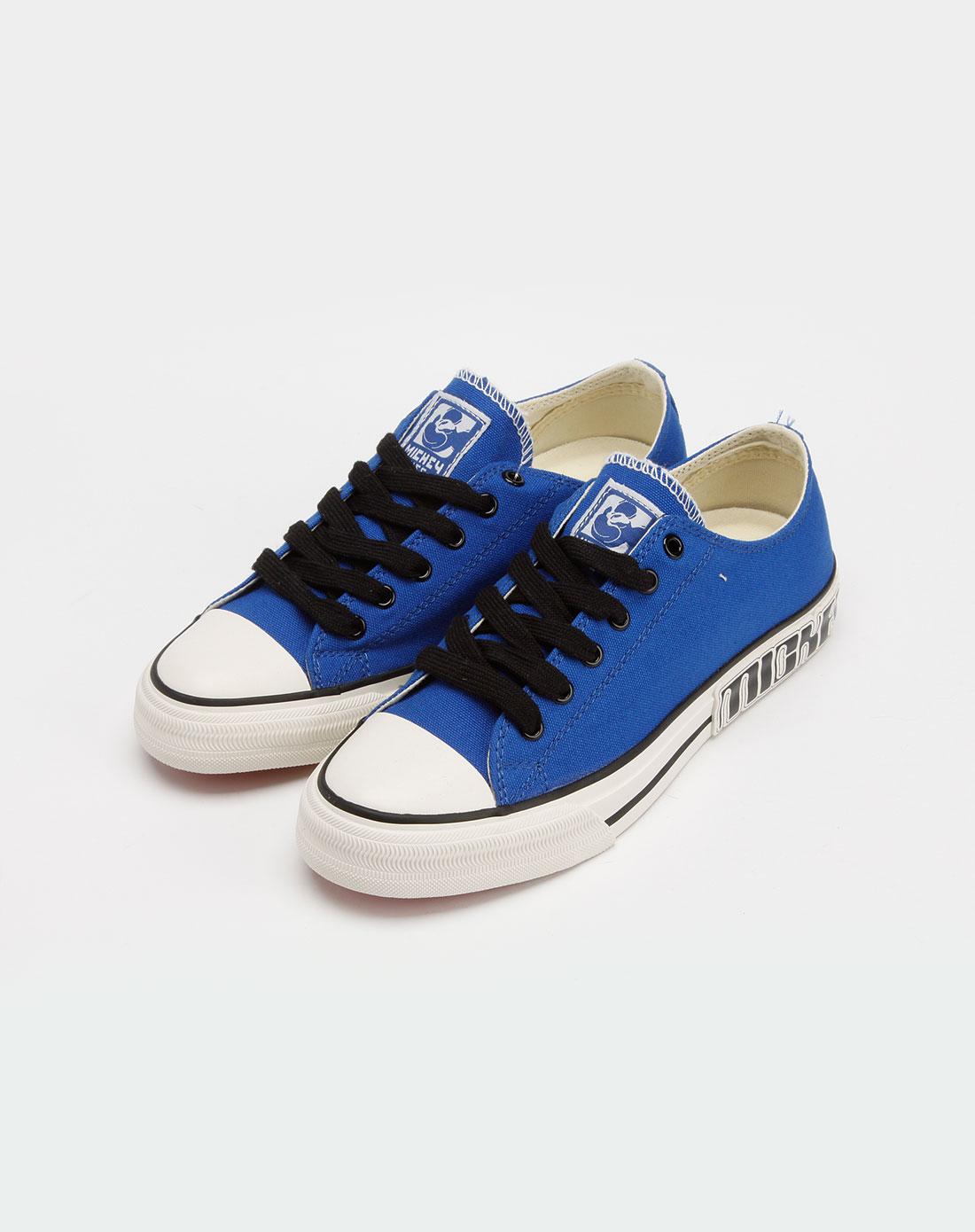 女款蓝色帆布鞋_迪士尼disney米奇官网特价3