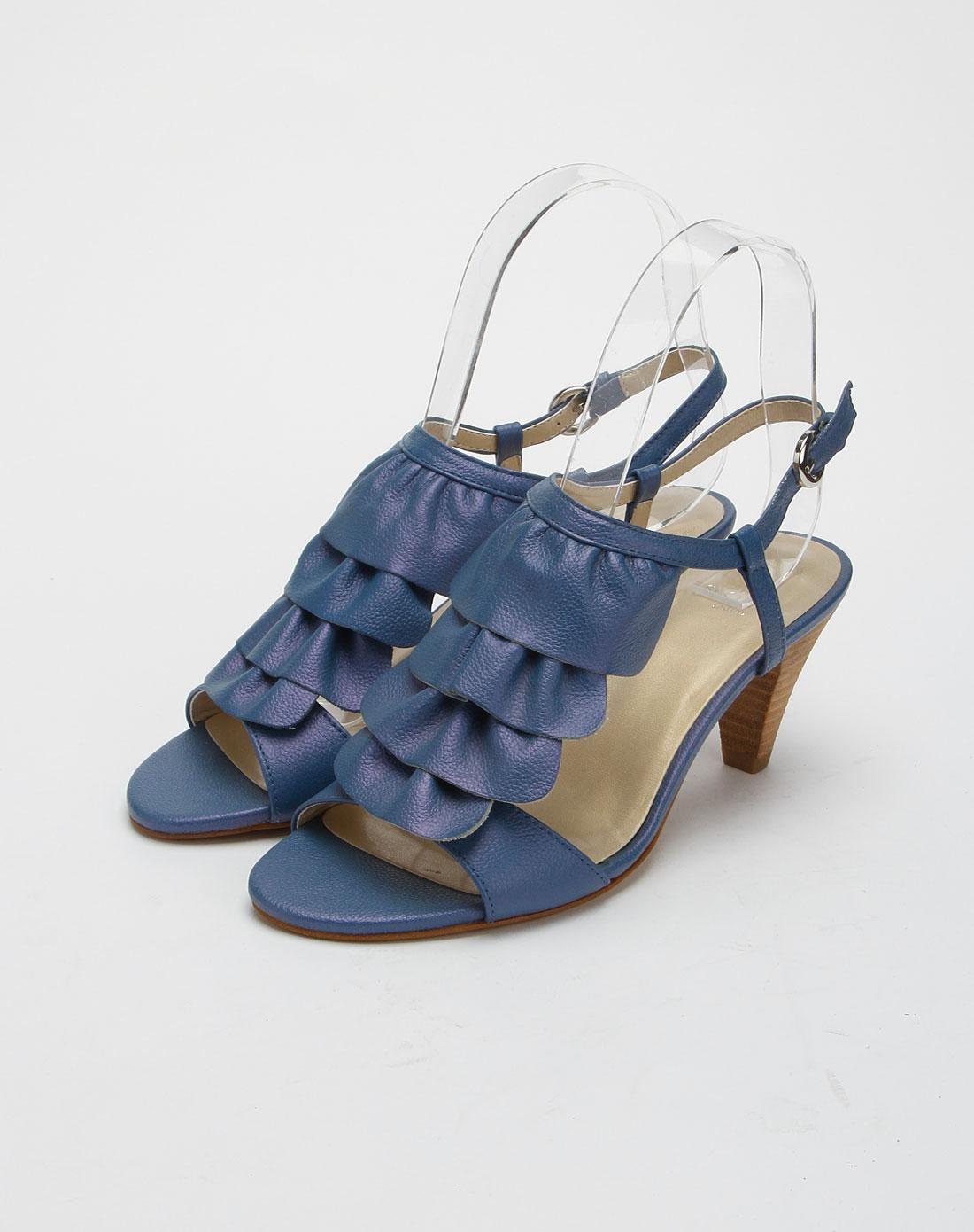 chic女款宝蓝色时尚高跟凉鞋