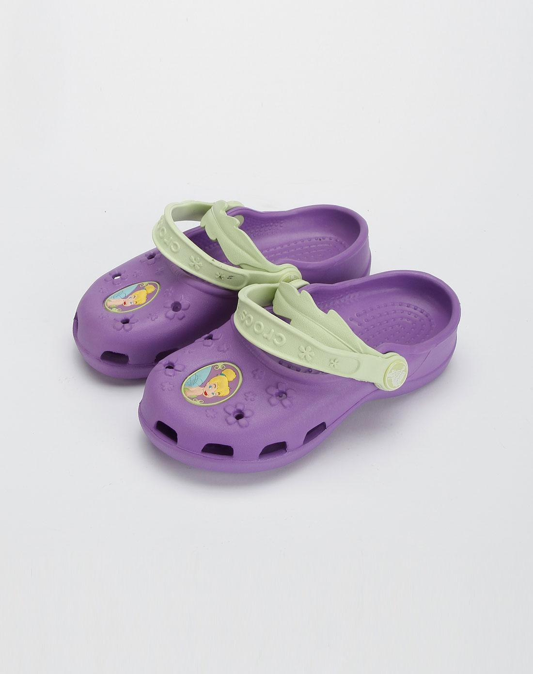 卡骆驰crocs女款紫色迪士尼小仙女小玛丽珍休闲女鞋
