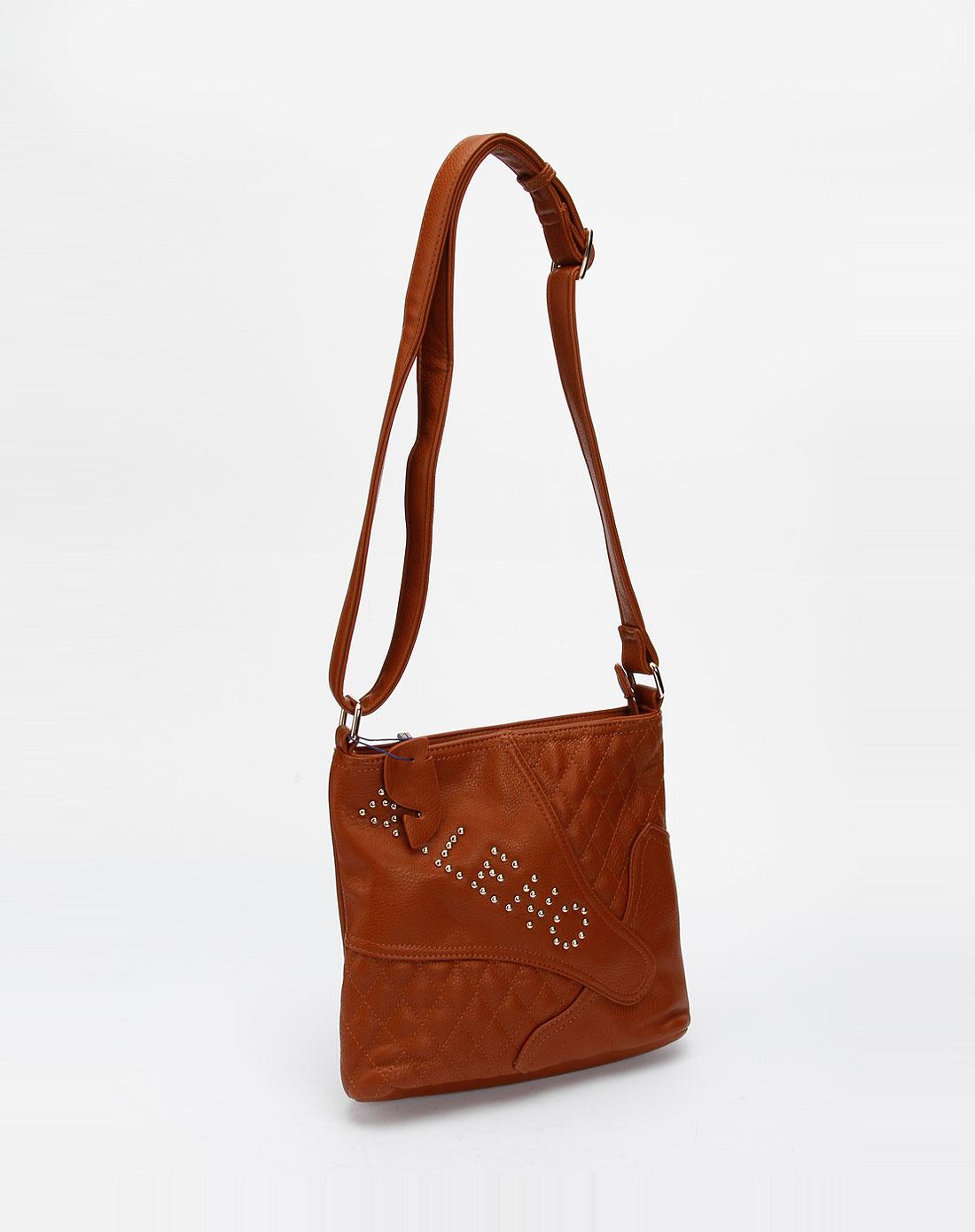 宾奴baleno女款棕色时尚休闲斜挎包1fh080210-01830