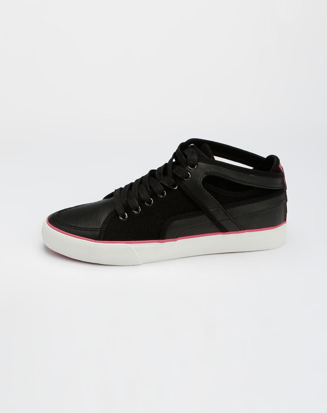 卡帕kappa男装专场-黑色时尚简约运动鞋