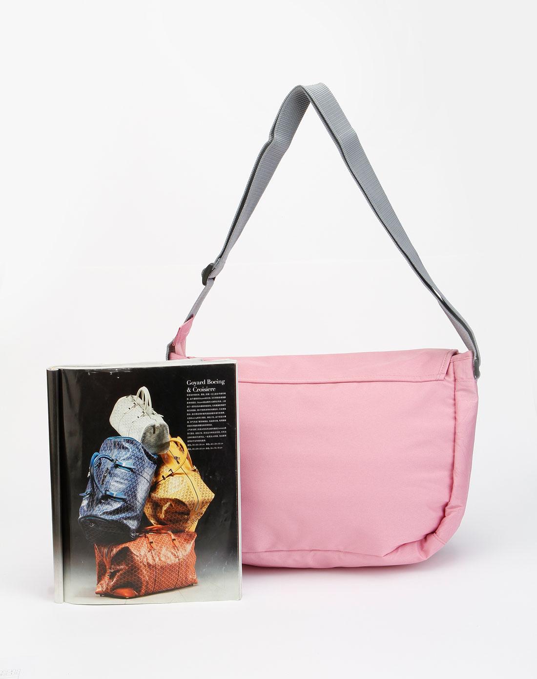 卡帕kappa粉红色时尚单肩包k01
