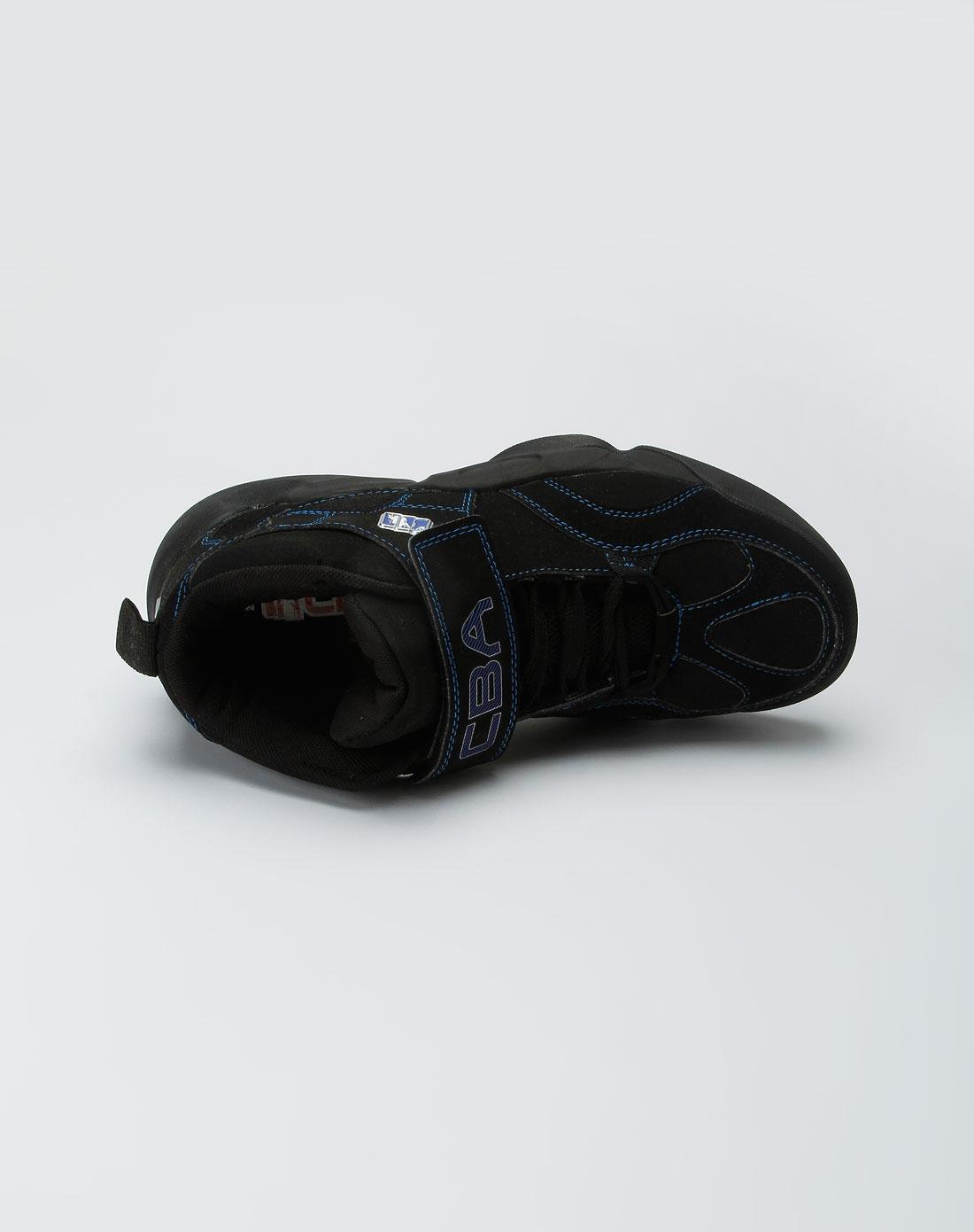 cba男款黑色魔术贴时尚篮球鞋