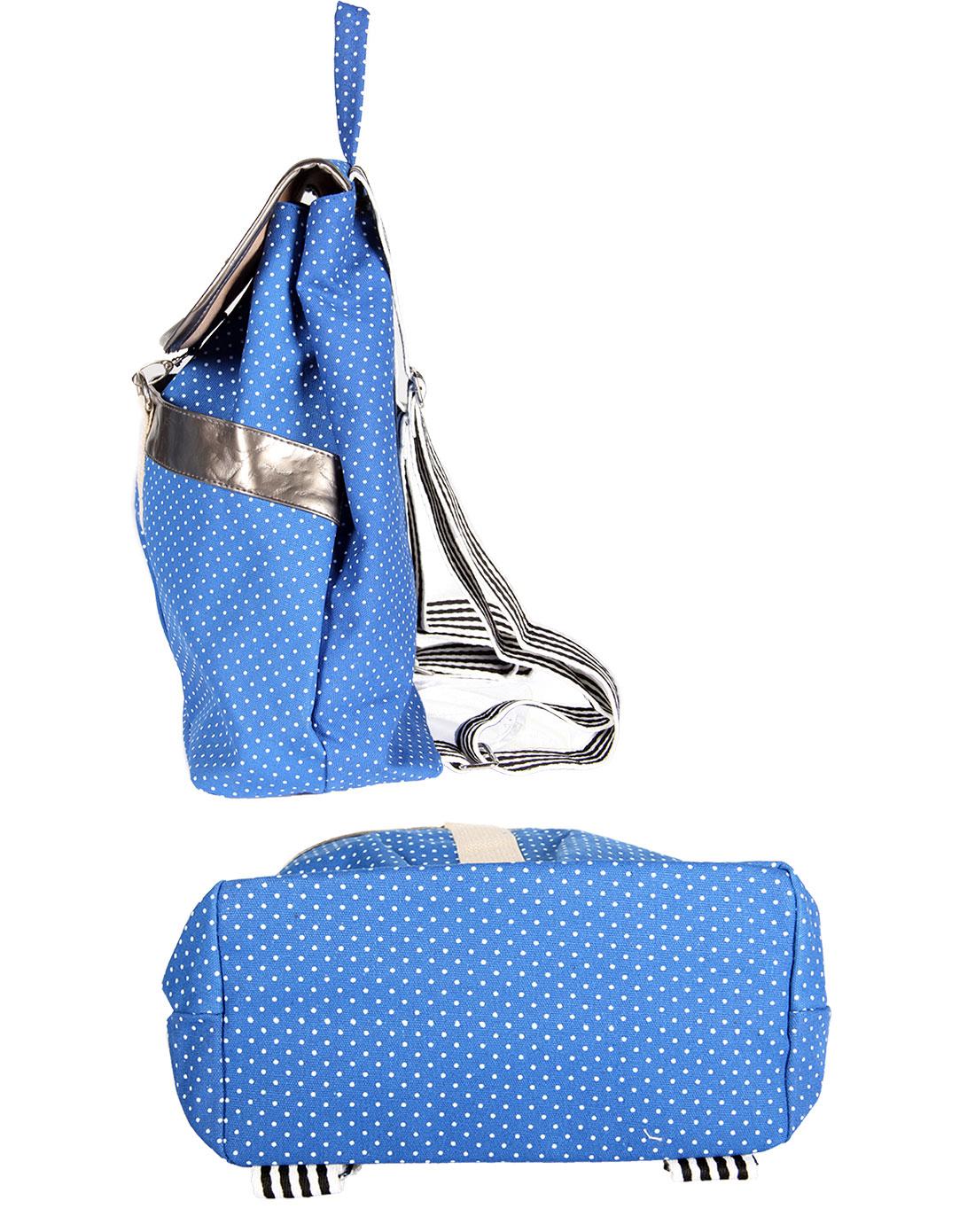 蓝色时尚双肩背包