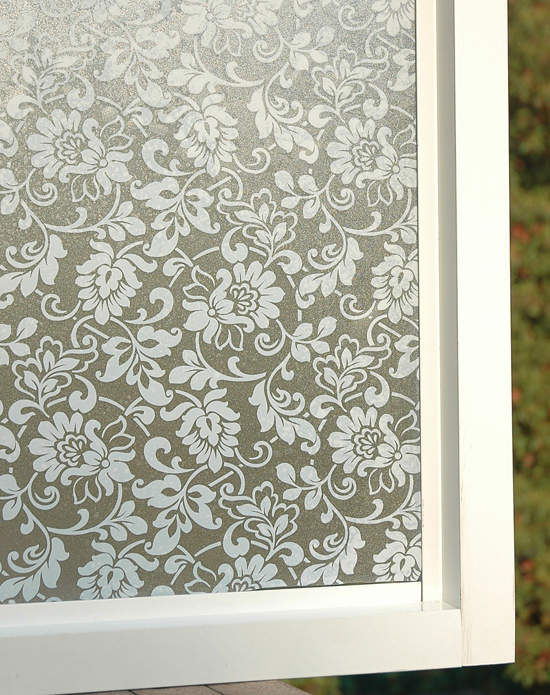 忆美特emit家居专场白色花纹印花无胶静电窗花贴玻璃贴