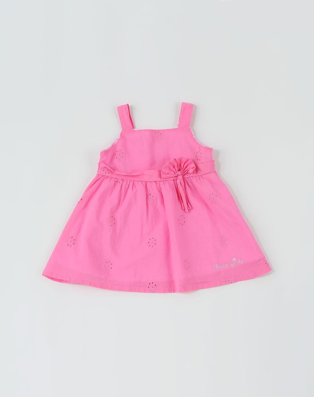巴拉巴拉balabala男女童混合专场女童桃红色可爱背心连衣裙